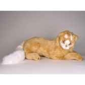 peluche allongee chat turc de van marron 45 cm piutre 327