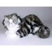 peluche allongee chat de norvege 35 cm piutre 2467