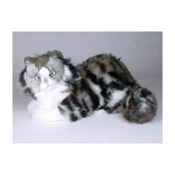 Peluche allongée chat de Norvège 35 cm Piutre -2467