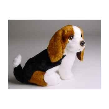 Peluche assise basset-hound 28 cm Piutre -1309