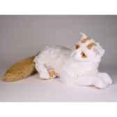 peluche allongee chat turc de van 45 cm piutre 2317