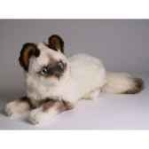 peluche allongee chat birman 30 cm piutre 2314