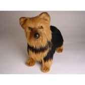 peluche debout yorkshire terrier 35 cm piutre 3297