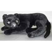 peluche allongee panthere noire 40 cm piutre 2522