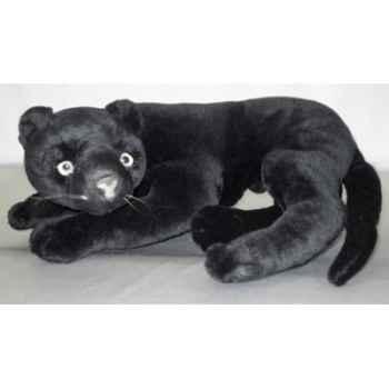 Peluche allongée panthère noire 40 cm Piutre -2522