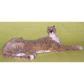 peluche allongee guepard 140 cm piutre 2581