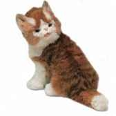 peluche assise chat maine coon 30 cm piutre 2381