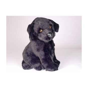 Peluche assise labrador retrevier noir 30 cm Piutre -3340