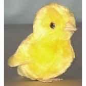 peluche poussin jaune 12 cm piutre 704