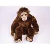 peluche assise chimpanzee 60 cm piutre 2571