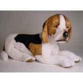 peluche couchee beagle 60 cm piutre 2242