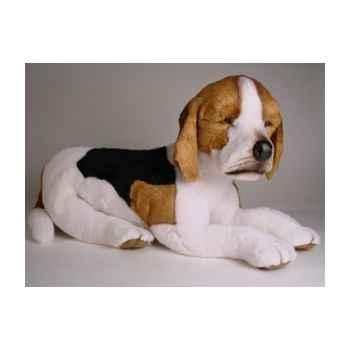 Peluche couchée beagle 60 cm Piutre -2242