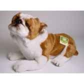 peluche allongee english buldog 42 cm piutre 2272