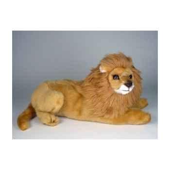 Peluche allongée lion 50 cm Piutre -2508
