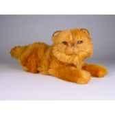 peluche allongee chat persan roux 40 cm piutre 2456