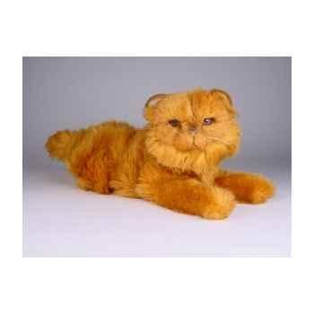 Peluche allongée chat persan roux 40 cm Piutre -2456