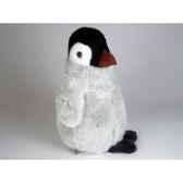 peluche debout pingouin 35 cm piutre 4841
