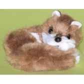 peluche miniature couchee renard 15 cm piutre 4265