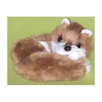 Peluche Miniature couchée renard 15 cm Piutre -4265