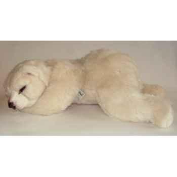 Peluche allongée ours polaire 65 cm Piutre -2122