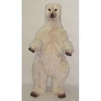 Peluche debout ours polaire 160 cm Piutre -2110
