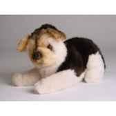 peluche allongee mascot berger allemand 20 cm piutre 4252