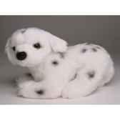 peluche allongee mascotte dalmatien 20 cm piutre 4254