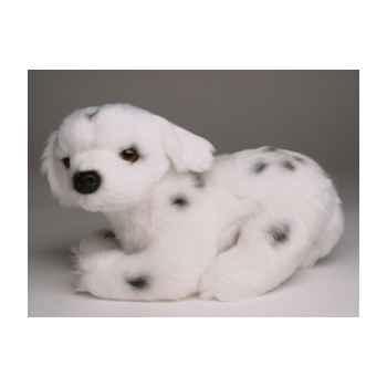 Peluche allongée mascotte dalmatien 20 cm Piutre -4254