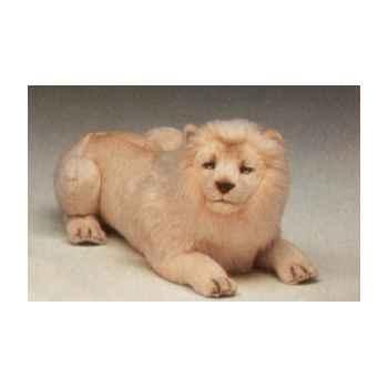 Peluche allongée lion blanc 85 cm Piutre -2523