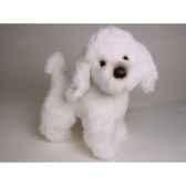 peluche debout poodle blanc 35 cm piutre 280