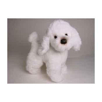 Peluche debout poodle blanc 35 cm Piutre -280
