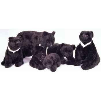 Peluche allongée ours noir d'Asie 80 cm Piutre -2190