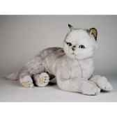 peluche allongee chat british poils courts 45 cm piutre 2461