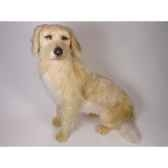 peluche assise golden retriever 85 cm piutre 2201