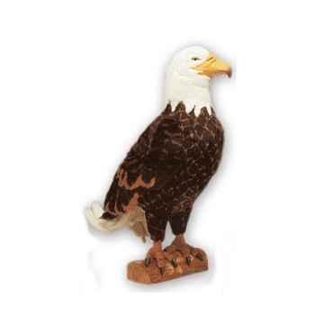 Peluche aigle pygargue à tête blanche 50 cm Piutre -2641