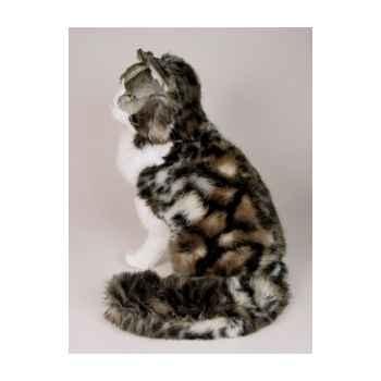 Peluche assise chat de Norvège 50 cm Piutre -2464