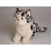 peluche assise chat tachete 23 cm piutre 2337