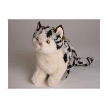 Peluche assise chat tâcheté 23 cm Piutre -2337