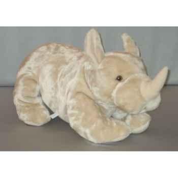 Peluche couchée Rhinocéros 65 cm Piutre -G122