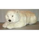 peluche allongee ours polaire 85 cm piutre 2161
