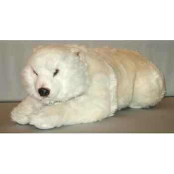 Peluche allongée ours polaire 85 cm Piutre -2161