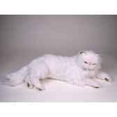 peluche allongee chat persan blanc 50 cm piutre 2393
