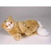 peluche allongee chat turc de van marron 35 cm piutre 329