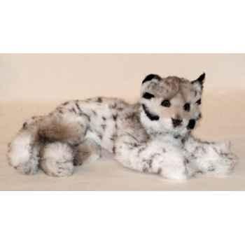 Peluche allongée lynx 50 cm Piutre -2555