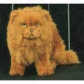 peluche assise chat persan roux 25 cm piutre 2454