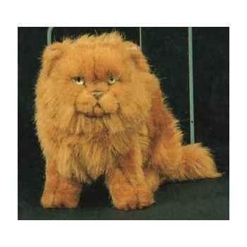 Peluche assise chat persan roux 25 cm Piutre -2454