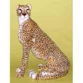 peluche assise guepard 95 cm piutre 2580