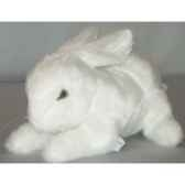 peluche allongee lapin blanc 30 cm piutre 709