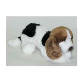 Peluche allongée chiot basset hound 30 cm Piutre -3370