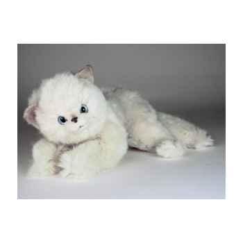 Peluche couchée chat 25 cm Piutre -2441